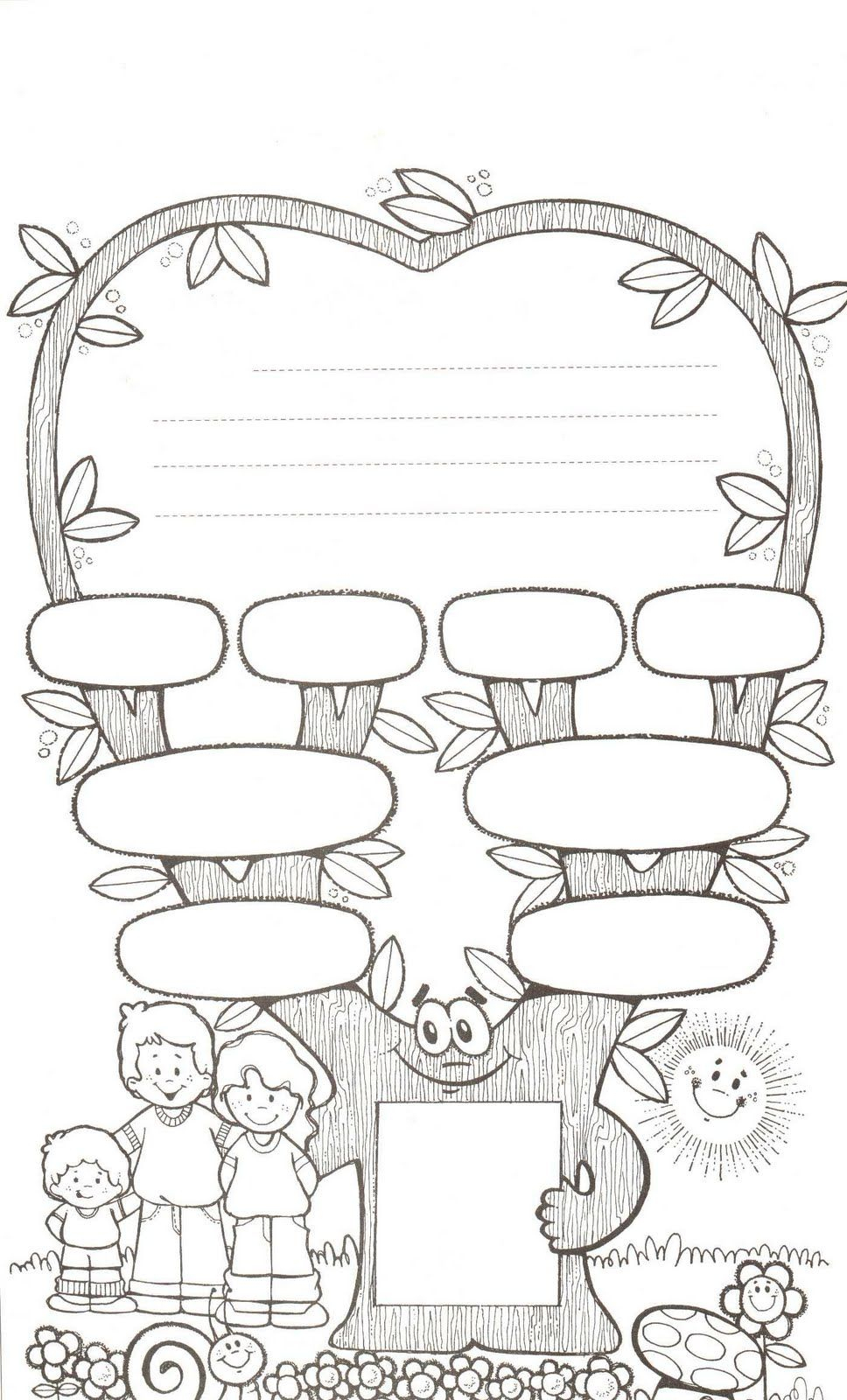 Family Tree Worksheet Printable … | Esl Worksheets | Famil… | Family Tree Worksheet Printable