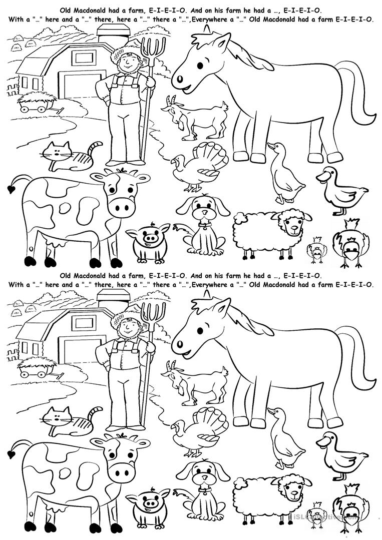 Farm Animals Worksheet - Free Esl Printable Worksheets Madeteachers | Farm Animals Printable Worksheets