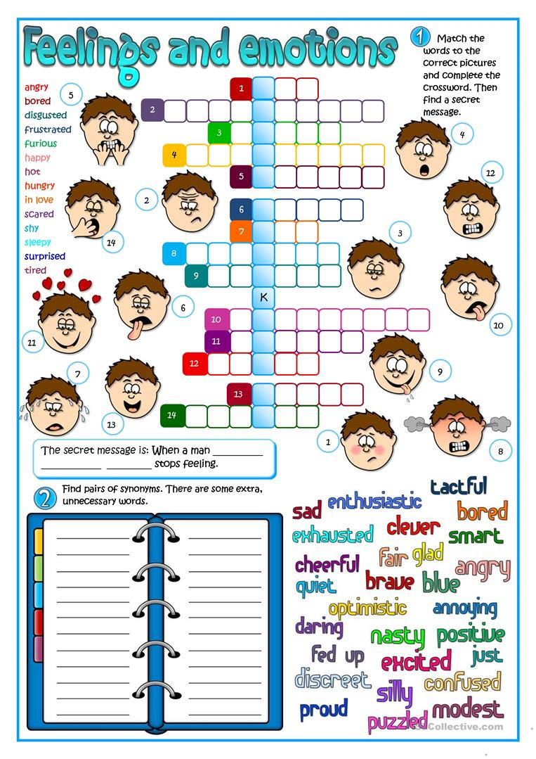 Feeling And Emotions Worksheet - Free Esl Printable Worksheets Made | Feelings And Emotions Worksheets Printable