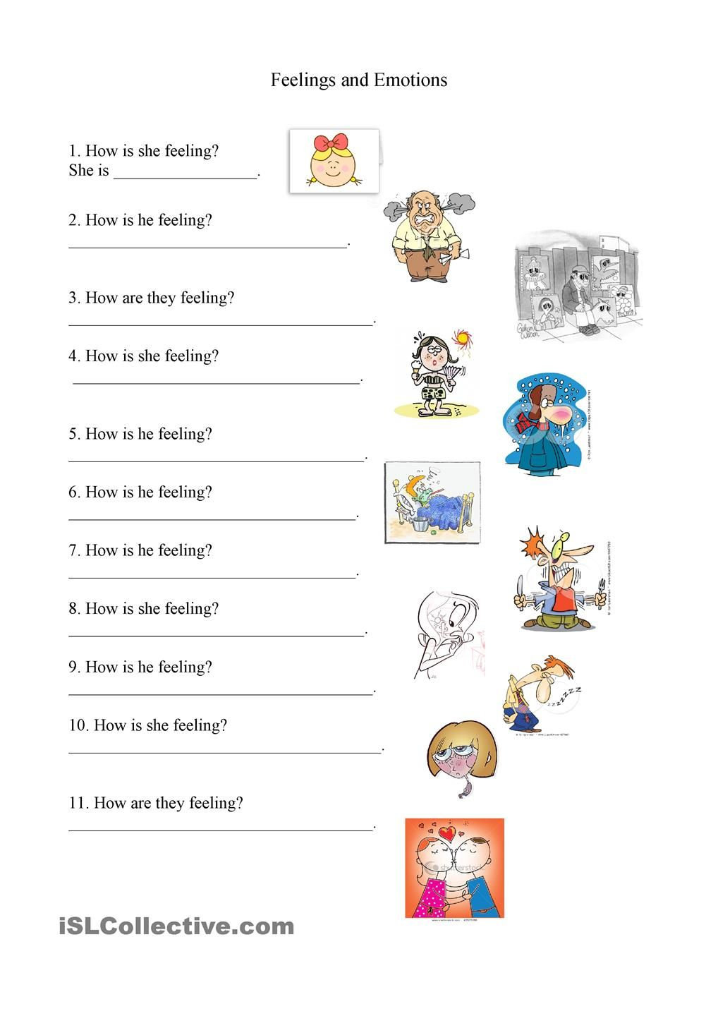 Feelings And Emotions Worksheet | Feelings | Feelings, Emotions | Feelings And Emotions Worksheets Printable
