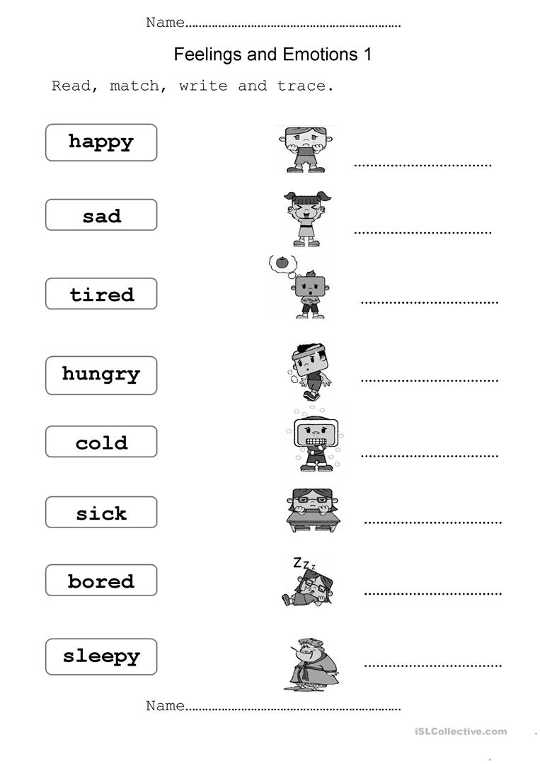 Feelings And Emotions Worksheet - Free Esl Printable Worksheets Made | Feelings And Emotions Worksheets Printable