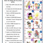 Feelings And Emotions Worksheet   Free Esl Printable Worksheets Made | Feelings And Emotions Worksheets Printable