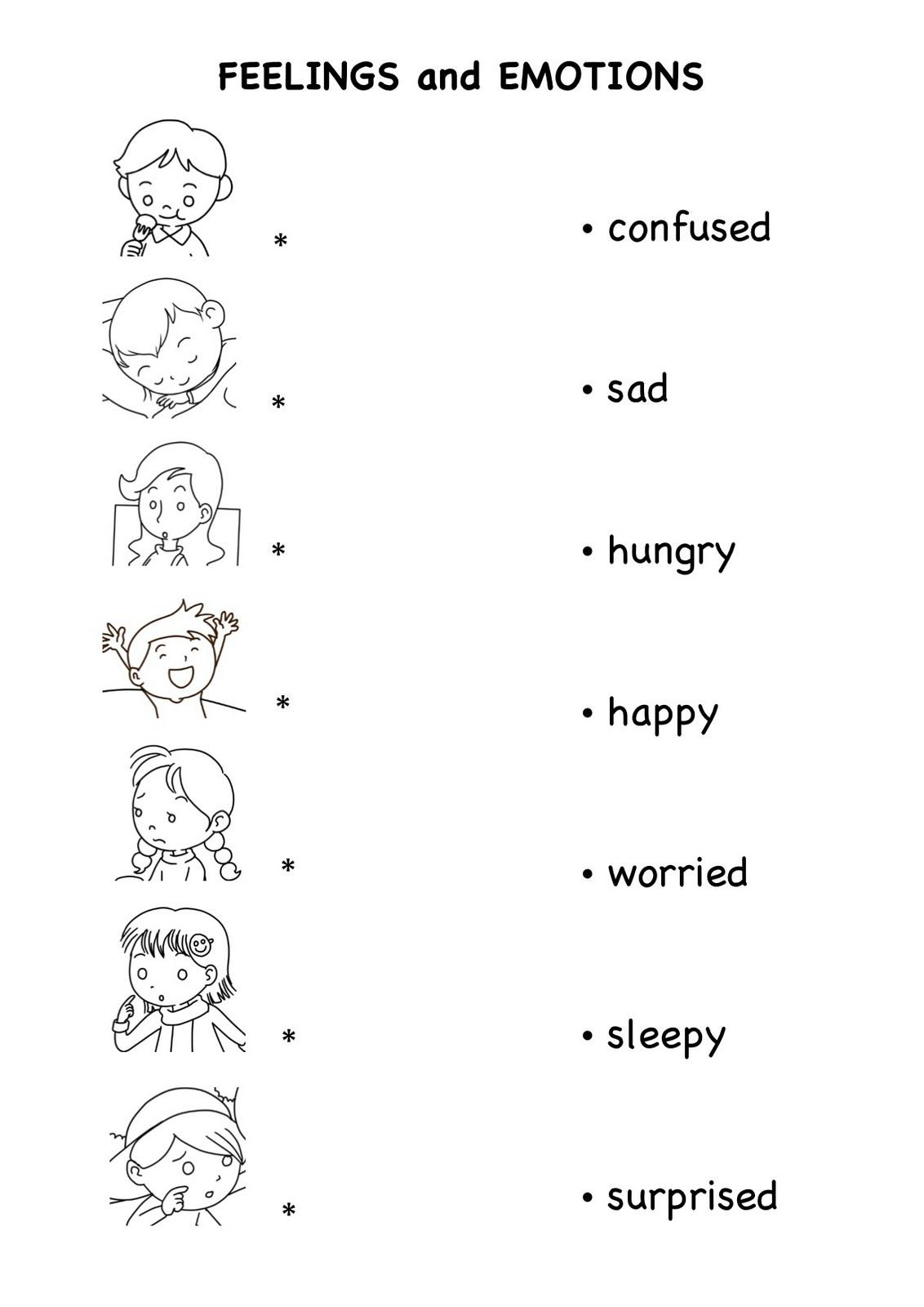 Feelings And Emotions Worksheets Printable (72+ Images In Collection | Feelings And Emotions Worksheets Printable