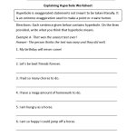 Figurative Language Worksheets | Hyperbole Worksheets | Printable Worksheets For 6Th Grade Language Arts
