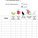 Find Someone Who Likes And Dislikes Warmer Worksheet   Free Esl | Likes And Dislikes Worksheets Printable