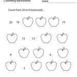 First Grade Counting Backwards Worksheet Printable | Math | 1St | First Grade Printable Worksheets
