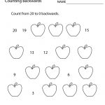 First Grade Counting Backwards Worksheet Printable | Math | 1St | Free Printable First Grade Math Worksheets