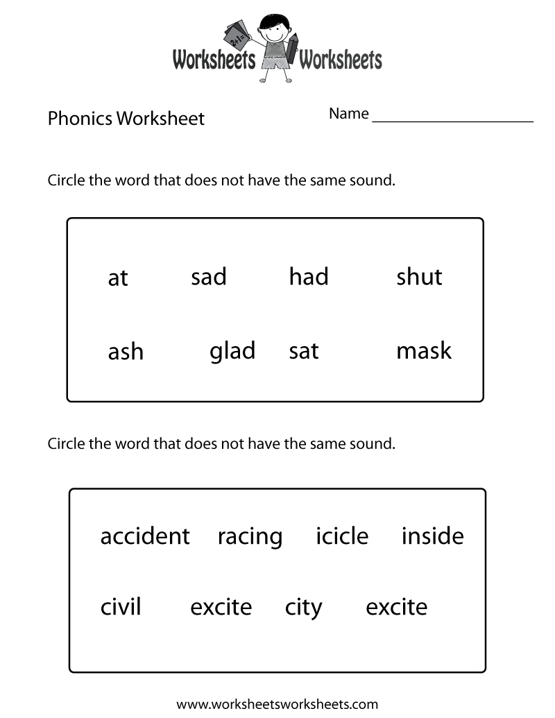 First Grade Phonics Worksheet Printable. The Bottom Part Is Advanced | Grade 1 Phonics Worksheets Free Printable