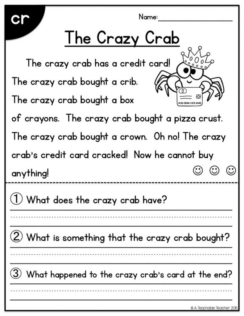 First Grade Reading Worksheets Free Report Templates Comprehension | Printable Reading Worksheets For 1St Grade