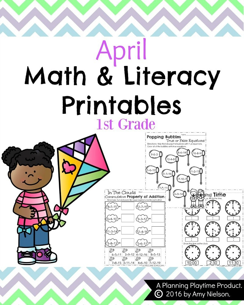 First Grade Worksheets For Spring - Planning Playtime | Spring Break Printable Worksheets