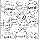 Flower Color Words Worksheet | My Future Classroom | Kindergarten | Spring Printable Worksheets For Preschoolers