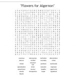 "Flowers For Algernon"" Word Search   Wordmint 