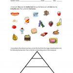 Food Pyramid   Healthy And Unhealthy Food. Worksheet   Free Esl | Free Printable Healthy Eating Worksheets