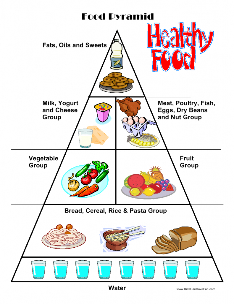 Food Worksheets, Cut & Paste Activities, Food Pyramid | Canada Food Guide Printable Worksheets