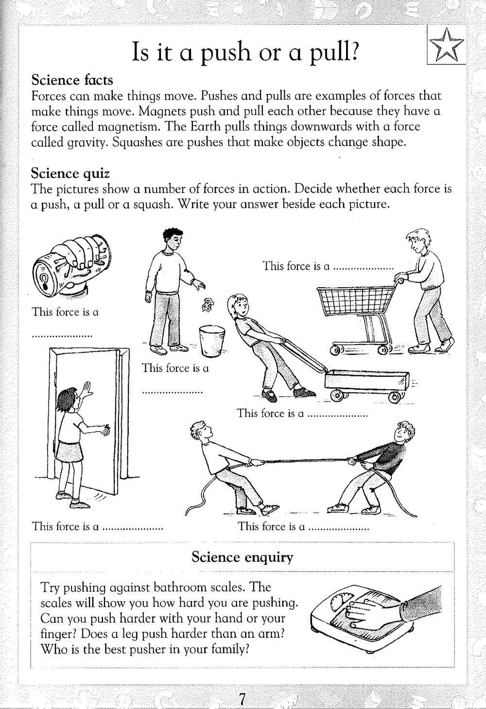 Forces Printable | Science - Carol Vorderman's Homework Help | Science Worksheets Ks2 Printable
