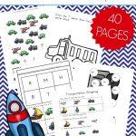 Free 40 Page Preschool Transportation Theme Printables | Free Printable Transportation Worksheets For Kids