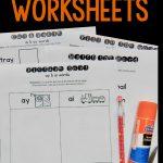 Free Ay & Ai Worksheets   The Measured Mom | Free Printable Ay Word Family Worksheets