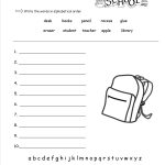 Free Back To School Worksheets And Printouts | Free Printable School Worksheets