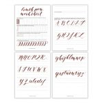 Free Basic Brush Pen Calligraphy Worksheet – The Postman's Knock | Free Printable Calligraphy Worksheets