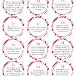 Free Biblical Advent Calendar Printable   Christmas Crafts   Advent Printable Worksheets