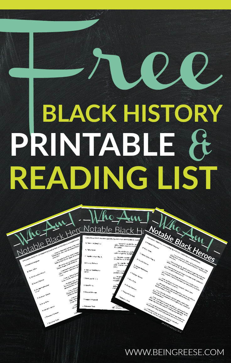 Free Black History Month Worksheet + A Reading List | Black History Month Free Printable Worksheets