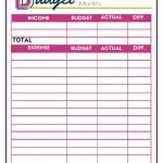 Free Budget Worksheets   Single Moms Income | Blank Budget Worksheet Printable