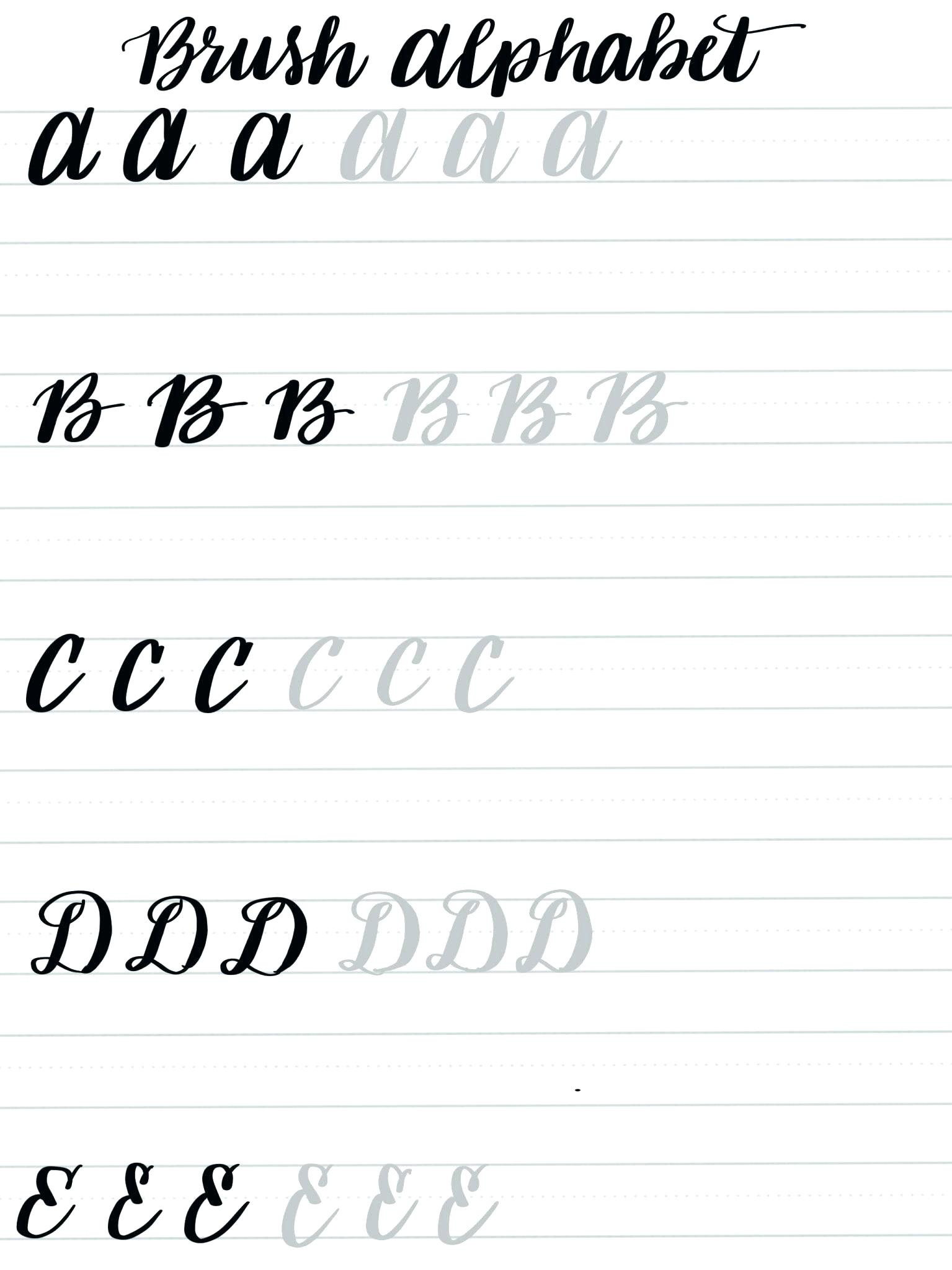 Free Calligraphy Practice Sheets Printable – Pointeuniform.club | Free Printable Calligraphy Worksheets