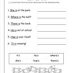 Free Contractions Worksheets And Printouts | Free Printable Contractions Worksheets
