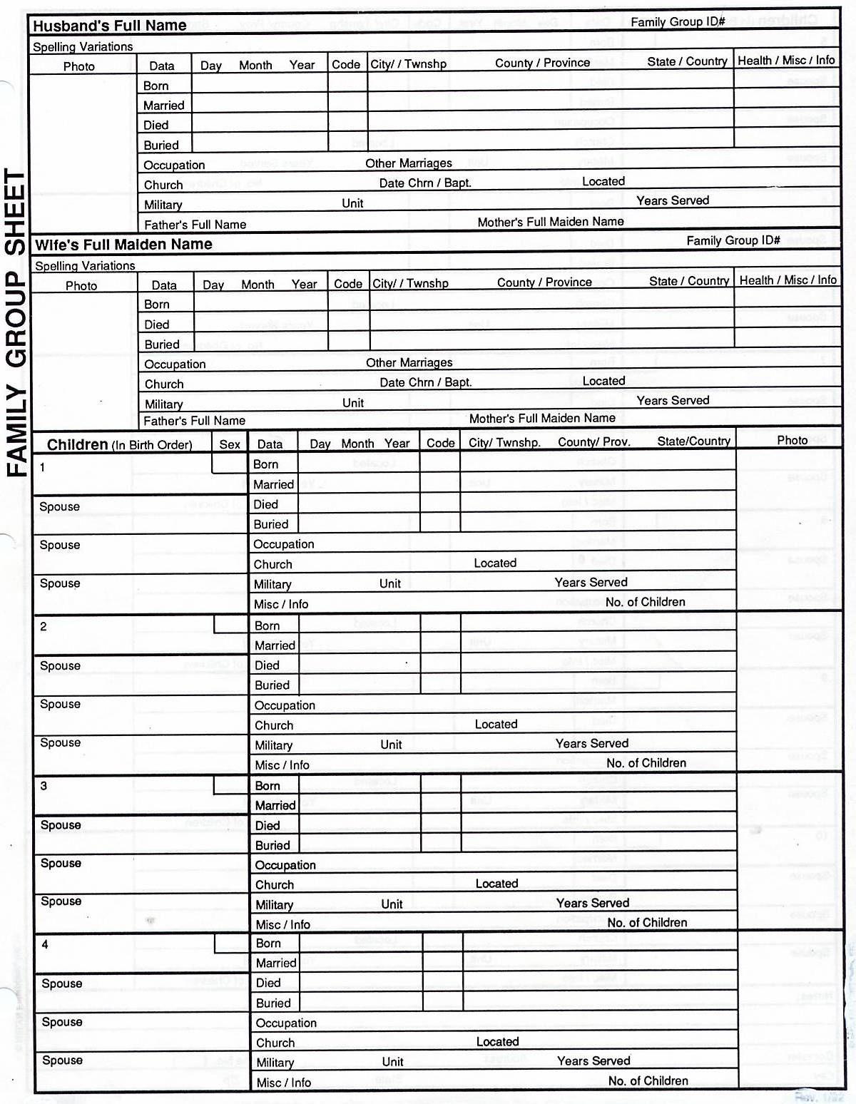 Free Family Tree Print Out | Genealogy | Genealogy Chart, Family | Free Printable Genealogy Worksheets