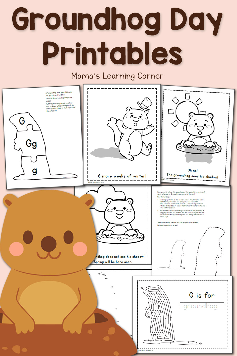 Free Groundhog Day Printables! - Mamas Learning Corner | Free Printable Worksheets For Groundhog Day