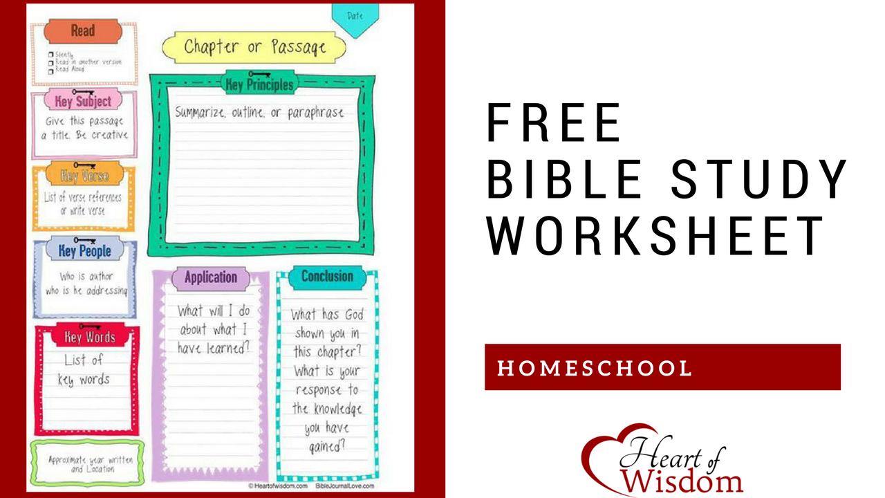 Free Key Bible Worksheet Printable – Heart Of Wisdom | Blog Worksheet Printable