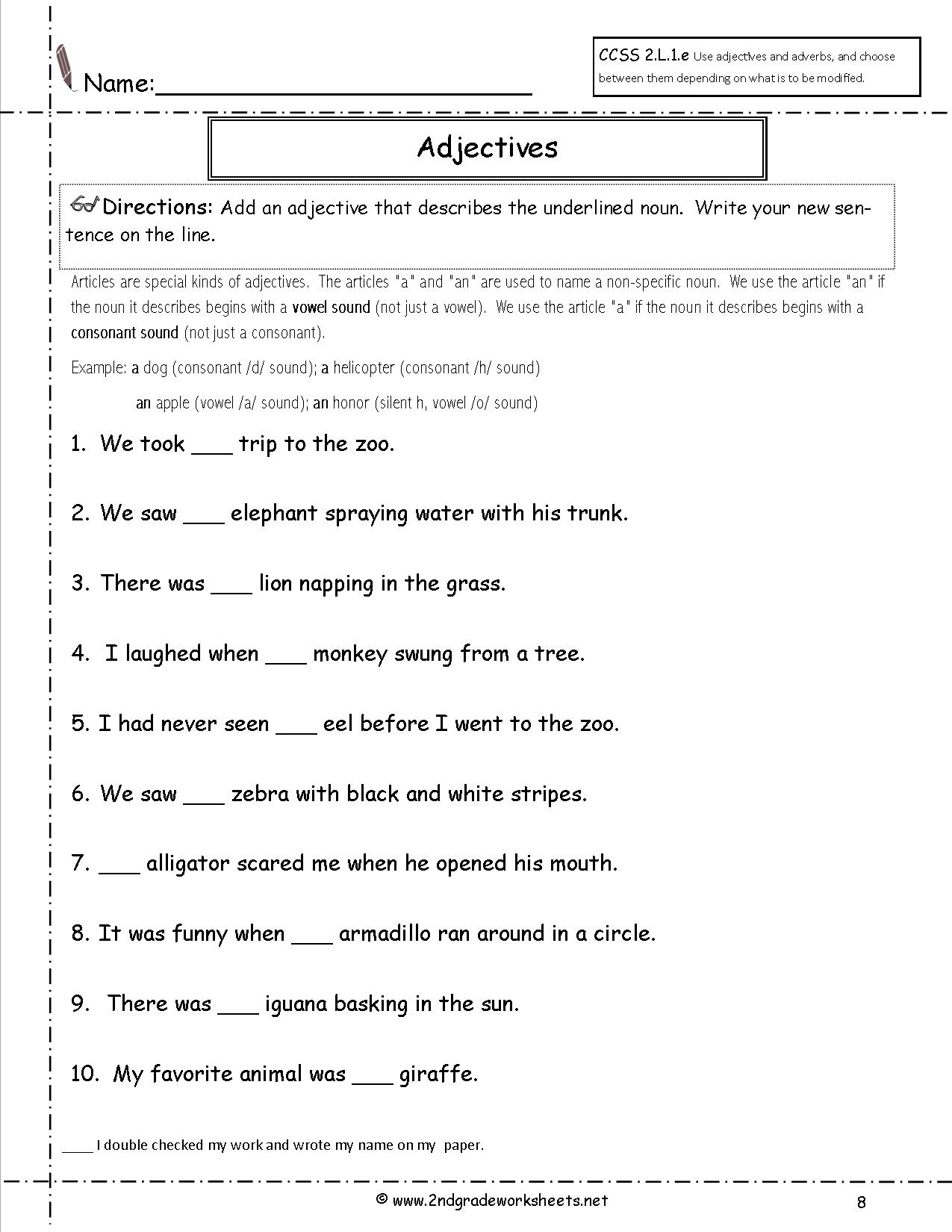 Free Language/grammar Worksheets And Printouts   Free Printable Third Grade Grammar Worksheets