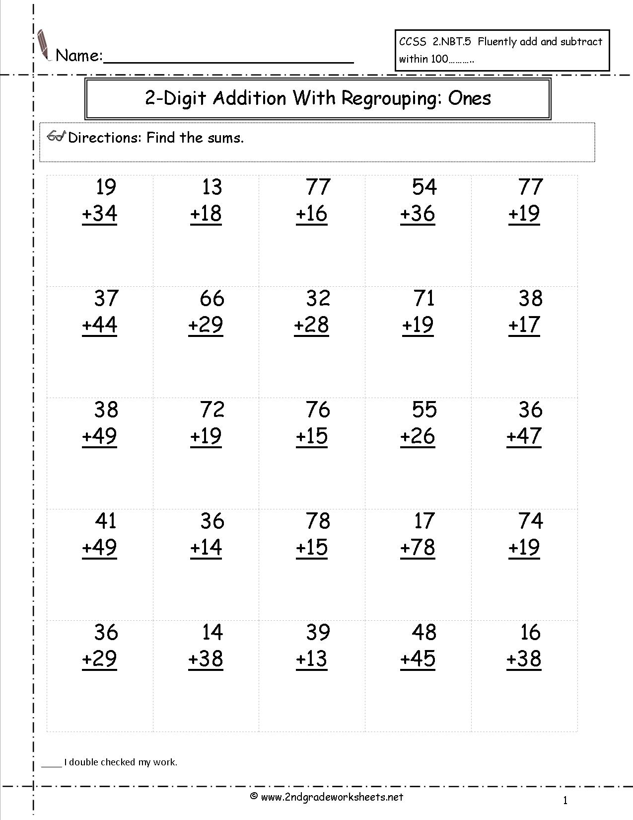 Free Math Worksheets And Printouts | Free Printable Subtraction Worksheets