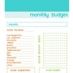 Free Monthly Budgeting Worksheet | .anize My Life | Simple Budget Worksheet Printable
