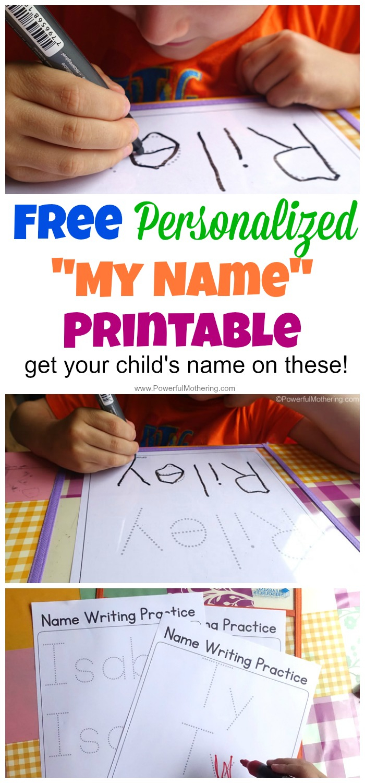 Free Name Tracing Worksheet Printable + Font Choices | Printable Name Worksheets