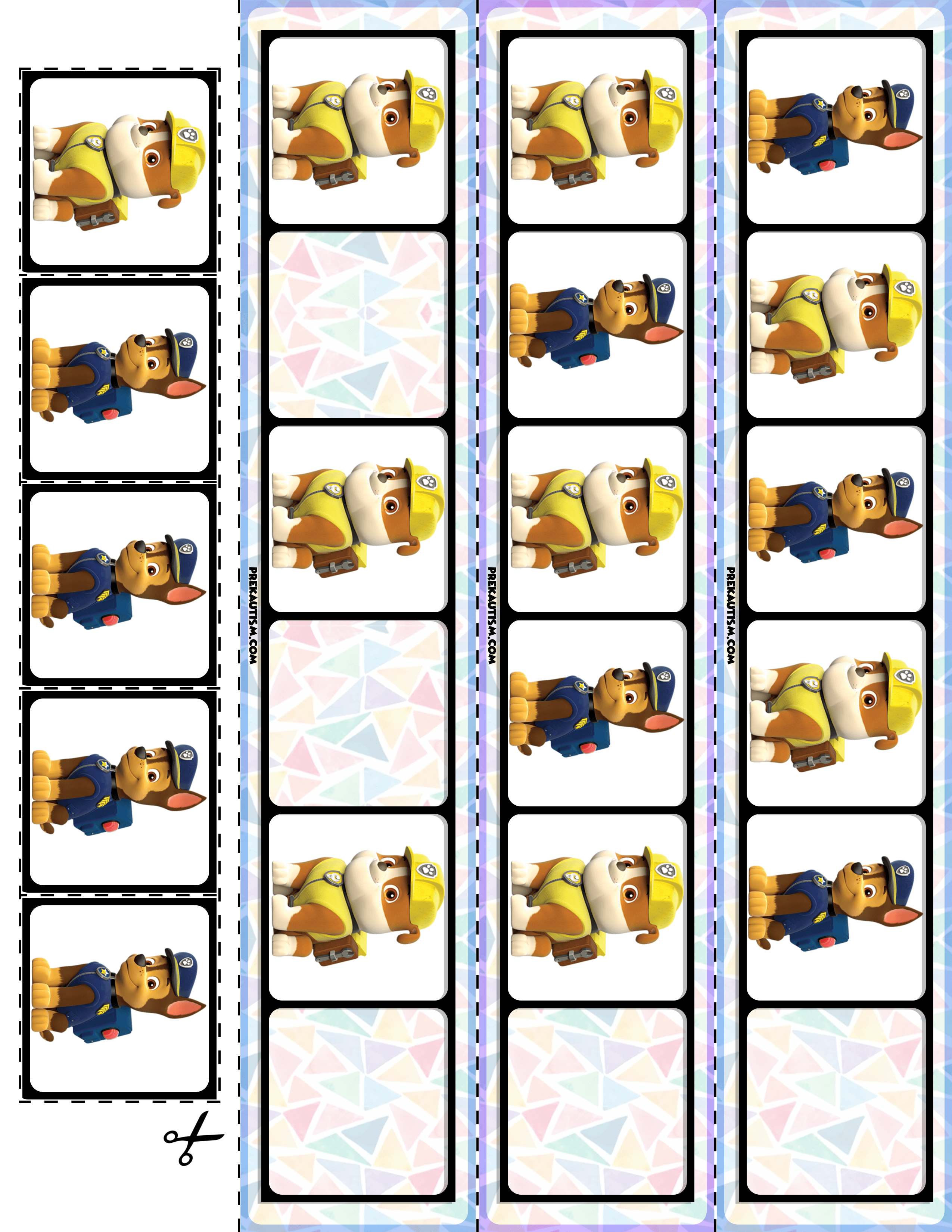 Free! Paw Patrol Printable Materials | My Tpt Store | Free | Free Printable Ab Pattern Worksheets