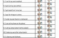 Free Printable Independent Life Skills Worksheets