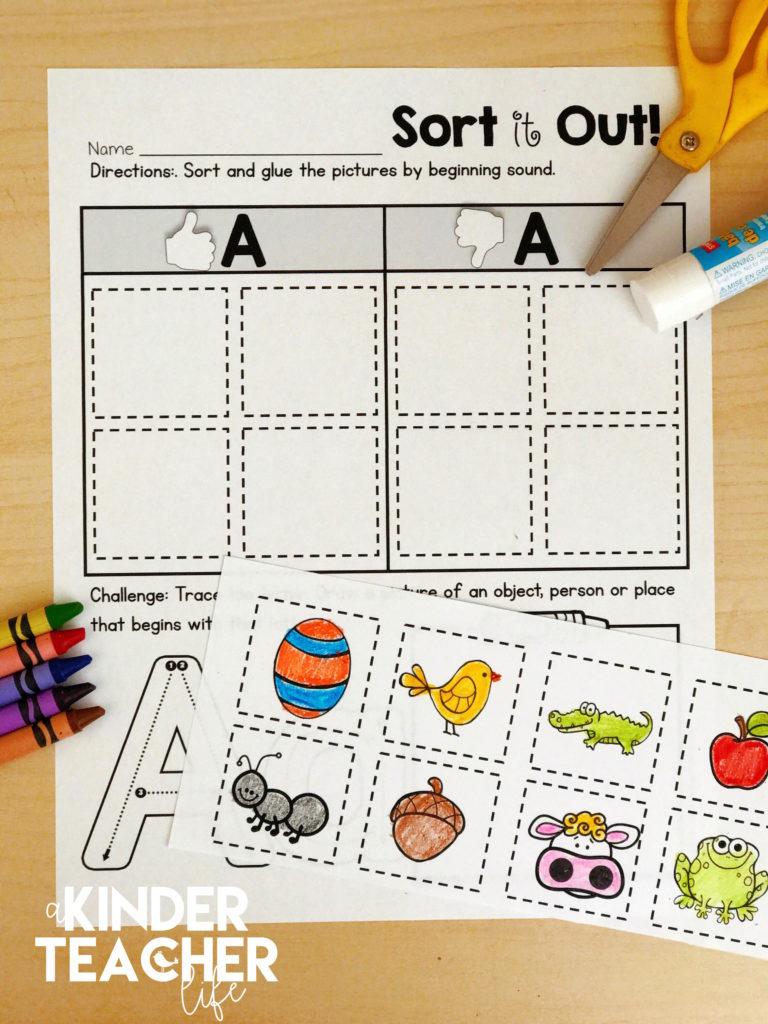 Free Phonemic Awareness Sorting Worksheets - A Kinderteacher Life | Free Printable Phoneme Segmentation Worksheets