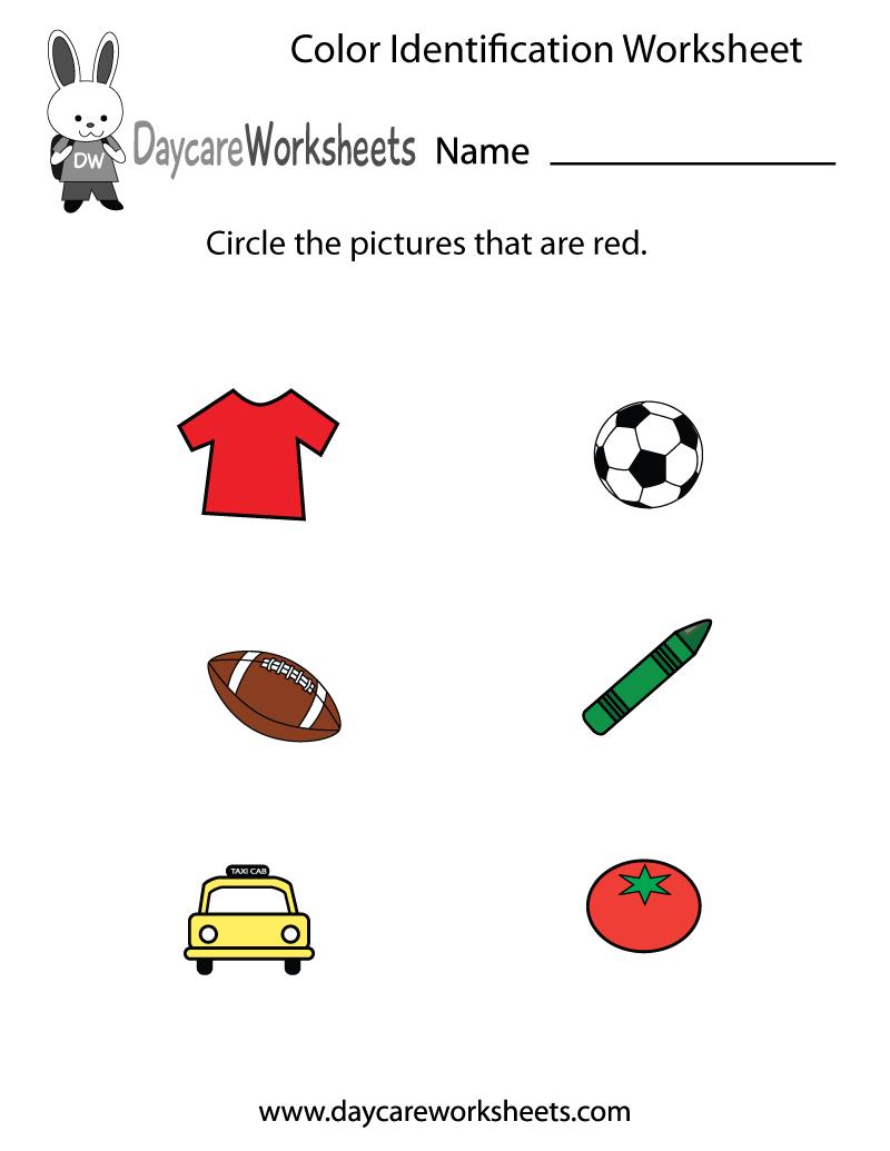 Free Preschool Color Identification Worksheet | Color Recognition Worksheets Free Printable