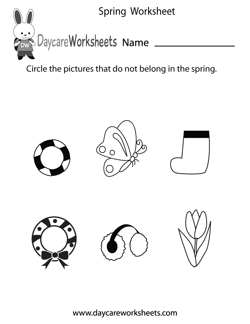 Free Preschool Spring Worksheet | Free Printable Spring Worksheets For Elementary