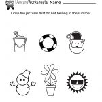 Free Preschool Summer Worksheet   Free Printable Seasons Worksheets | Free Printable Seasons Worksheets