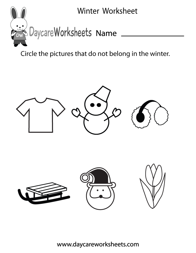 Free Preschool Winter Worksheet - Free Printable Seasons Worksheets | Free Printable Seasons Worksheets