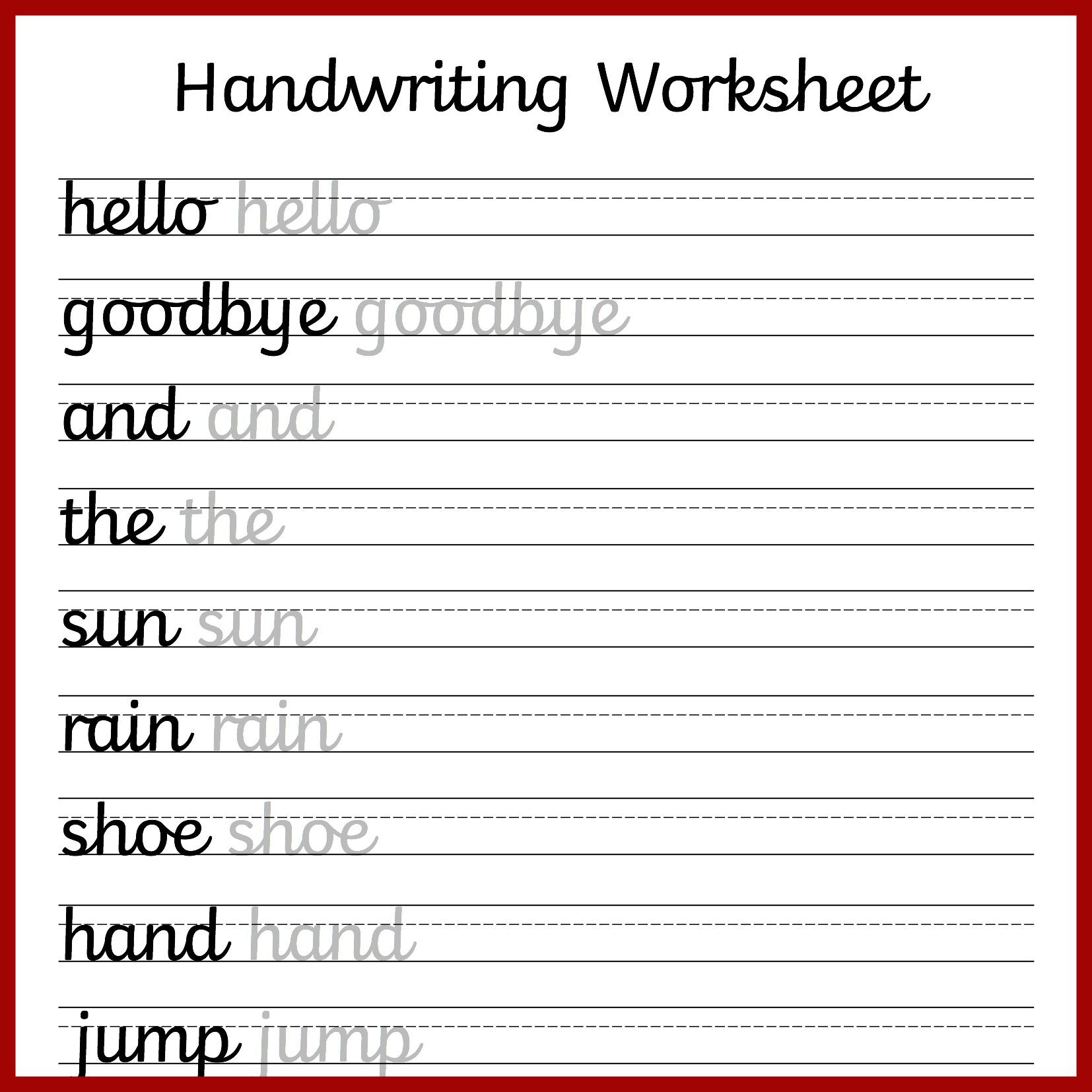 Free Preschool Writing Worksheets – With Kindergarten Handwriting | Free Printable Writing Worksheets For Kindergarten