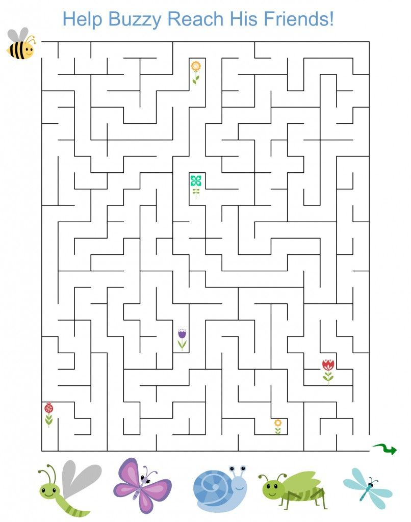 Free Printable Activity: Spring Maze For Kids | Cilj | Mazes For | Spring Break Printable Worksheets