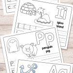 Free Printable Alphabet Book   Alphabet Worksheets For Pre K And K   Childrens Printable Alphabet Worksheets