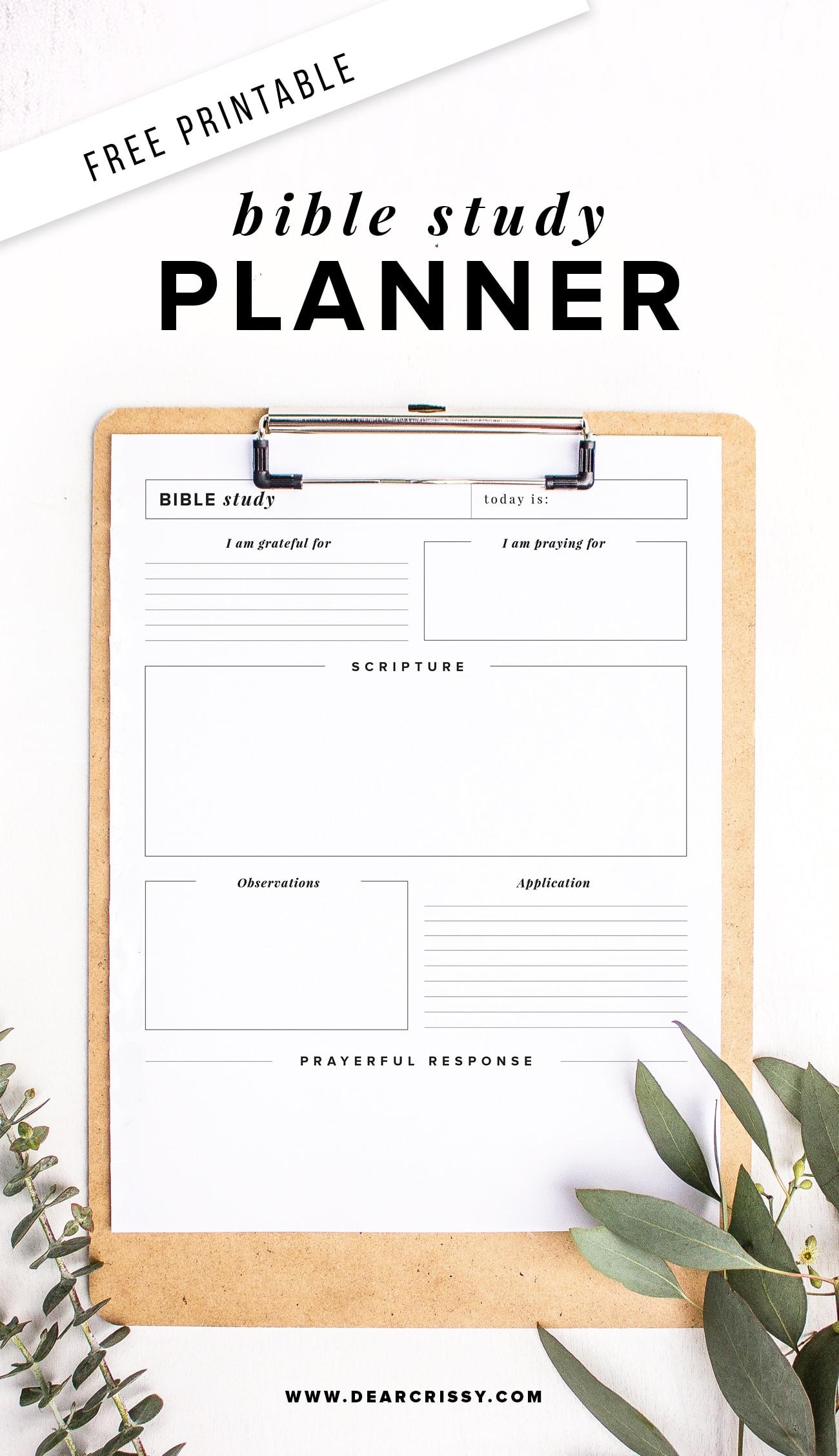 Free Printable Bible Study Planner - Soap Method Bible Study Worksheet! | Free Printable Bible Study Worksheets