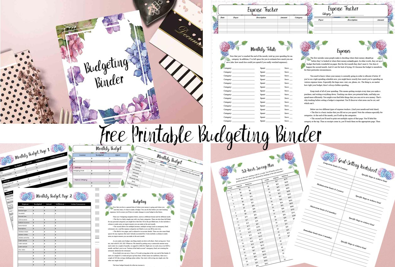 Free Printable Budgeting Binder: 15+ Pages! | Printable Budget Binder Worksheets