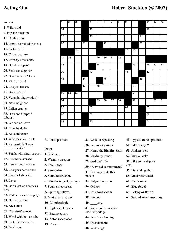 Free Printable Cards: Free Printable Crossword Puzzles | Printable | Free Printable Crossword Puzzle Worksheets