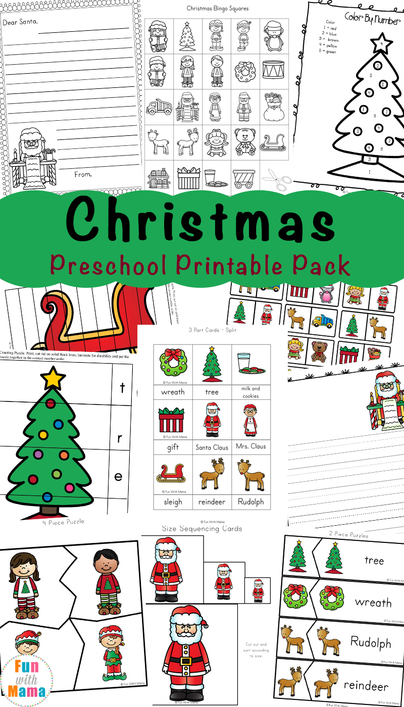 Free Printable Christmas Worksheets - Fun With Mama | Free Printable Christmas Worksheets