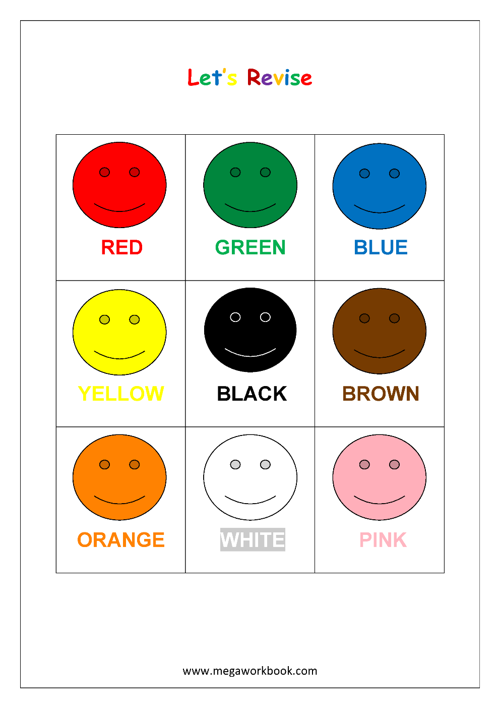 Free Printable Color Recognition Worksheets - Learn Basic Colors | Color Recognition Worksheets Free Printable